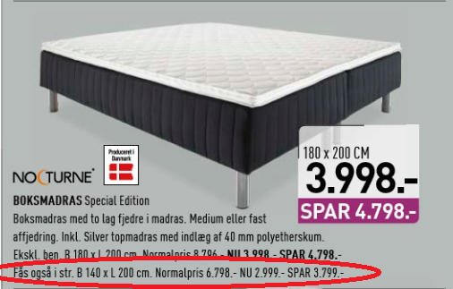 tilbud seng Ny seng tilbud seng